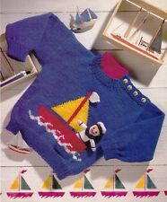 BABIES/TODDLERS~BOYS~SWEATER~SAILOR TOY~BOAT MOTIF~  KNITTING PATTERN~(S25)