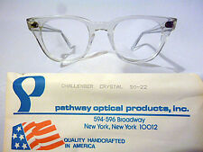 Vintage Men's Eyeglass Frame by Pathway called Challenger Crystal size 50-22 NOS