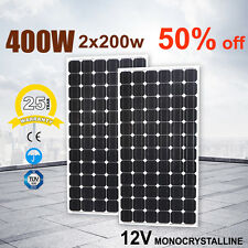 2X 12V 200W Mono Solar Panel kit Power Generator Battery Charging Caravan Boat