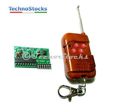 Telecomando + ricevitore 4 ch radio - Wireless Remote Control 4 key IC2272/2262