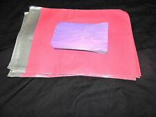 20 Pink 12x15 Flat Poly Mailer Envelopes, Self Sealing Shipping Bag Mailing USPS