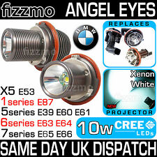 Bmw Xenon Blanco Angel Eye Halo Anillos 7000k 10w Cree Led Marcador bombillas 1 5 6 7 X 5