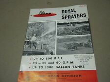 Vintage John Bean Royal High Pressure Sprayers