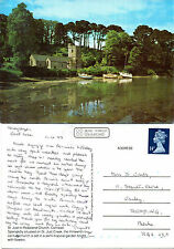 1988 St JUST IN ROSELAND CHURCH St JUST CREEK CORNWALL COLOUR POSTCARD