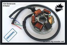 Vespa allumage zündgrundplatte pk 50 80 125 s xl xl2 v50 special 6v - 12v 5 Câble