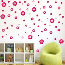 HUGE PINK FLOWERS SET 54pcs WALL ART STICKERS DECALS HOME DECORATION DIY DECOR
