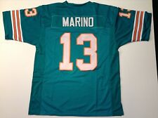Miami Dolphins Dan Marino UNSIGNED CUSTOM Jersey - Large