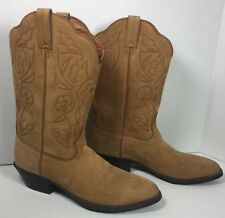 """Womens Western Cowboy Cowgirl Road Wolf Boots 11"""" Tan Boots Size 7 M Used"""