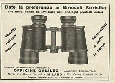 W5442 Binocoli KORISTKA - Pubblicità 1933 - Advertising