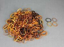 Brown Tan pack 500 small tiny mini hair ties elastics rubber bands girl braid