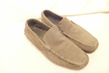 Driving Shoe by Marco Ferretti Suede Loafer slip on , Grey, 10M Quite Good