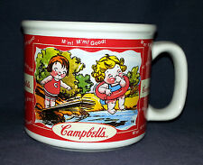 Campbell's Soup Mug Cup 2000 - Kids Swimming / Girls with Bird and Flower