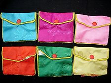 10 CHINESE L 9 x 10 cm COLOR SILK POUCH BAG CASE BIRTHDAY WEDDING NEW YEAR PARTY
