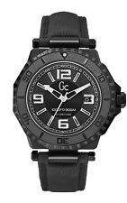 NEW GUESS COLLECTION GC - 3 AQUASPORT MEN WATCH DATE BLACK NYLON STRAP X79011G2S