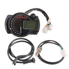 Motorcycle Bike LCD Digital Odometer Speedometer Tachometer Tacho Gauge RPM14000