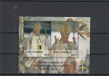 Gambia 2014 MNH Canonization Blessed Pope John Paul II 2v S/S I Popes Stamps