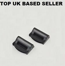 BLACK BMW Seat Belts Safety Adjustable Stopper Buckle Plastic Clips PACK OF 2