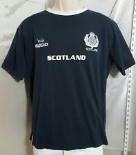 Raised in Scotland Embroidered Soccer T-Shirt Navy Blue Men's Size Large