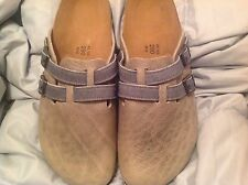 BIRKI'S BY BIRKENSTOCK Camden Leather Arunta Gray Mens 45 N 12