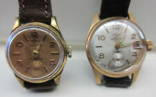 LOT OF 2 VINTAGE JOVIAL MANUAL 17J SWISS WOMEN'S WATCHES PARTS/REPAIR