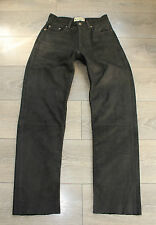 "Brown Thick Leather WIEDNER Biker Motorcycle Trousers Pants Jeans Size W28"" L30"""