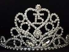 Rhinestone Quinceanera 15 15th Birthday Crown Tiara Party Cake Decoration C18