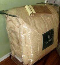 RALPH LAUREN King Comforter Set 3PCS TAN BAMBOO PRINT