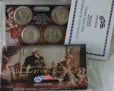2010 US Mint Proof Presidential $1 Coin Set 4 Golden Dollar Coins with Box & COA