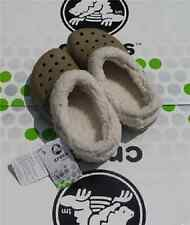 CROCS MAMMOTH BLITZEN POLAR KIDS BAYA SHOE~Brown Tan White~Junior 1 Women 3~NWT