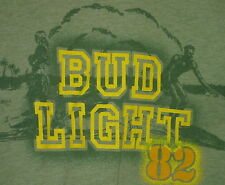 Vintage 80s Bud Light Hawaii 50/50 T Shirt Green L
