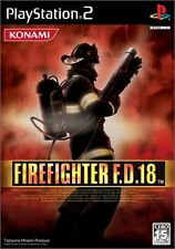 Used PS2 Firefighter F.D. 18   Japan Import (Free Shipping)