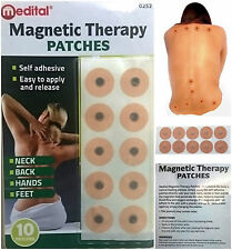 Medital 10 X Magnetic Therapy Patches Pain Relief Body Magnets Plaster Healing