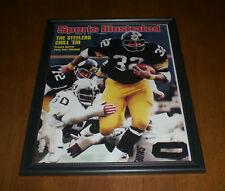 1976 STEELERS FRANCO HARRIS SPORTS ILLUSTRATED FRAMED COVER PRINT