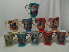 Disney Designer Fairytale Couples 10 COFFEE MUG Set SOLD OUT