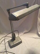 Vintage Dazor Industrial Floating Arm Desk Bench Lamp Light Model P-2324