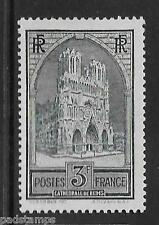 FRANCE 1931 3fr Reims Cathedral  type I  vf MINT lightly hinged SG 472