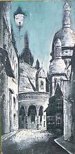 Huile sur toile Montmartre vers 1950