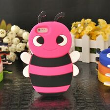 Cover CUSTODIA per IPHONE 5 5S Silicone APE MAIA 3D FUCSIA HONEY BEE