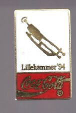 1994 Coca Cola Olympic Luge Pin Lillehammer Coke