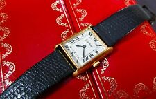 Cartier Ladies Classic White Dial TANK Wrist Watch in BOX  Runs