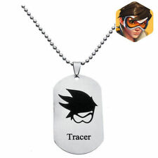 DZ1179 Overwatch Logo Alloy dog tag Necklace Pendant Chain Cosplay ~tracerΔ