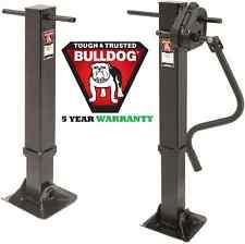 "BULLDOG 2-SPEED 90,000 lbs TANDEM LANDING GEAR TRAILER JACK ~ WELD-ON ~ 17"" LIFT"