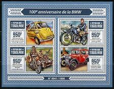 TOGO  2016  100th ANNIVERSARY OF BMW BAVARIAN MOTOR WORKS SHEET MINT NH