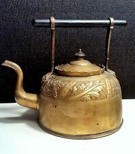 Antique19th c high quality hallmarked Chinese brass,Ebony  teapot kettle pot