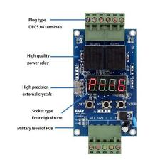 12V Dual Programmable Relay Control Board Cycle Delay Timer Switch Module Z0Z1