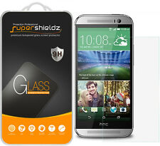 2X Supershieldz Tempered Glass Screen Protector Saver Shield For HTC One M8