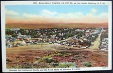 RAWLINS Wyoming ~ 1940's Aerial View of Town ~ Lincon Highway (U.S. 30 )