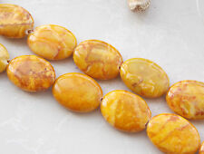 15x20mm Yellow Turkey Turquoise Oval Loose Beads Gemstone 15'' T-06