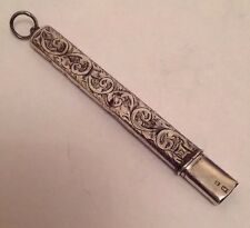 Antique Birmingham 1907 Solid Silver Fob Letter Opener By Francis Webb.