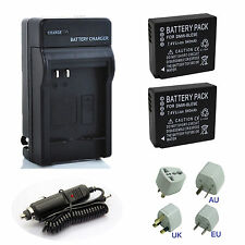 2x Battery+ Charger For Panasonic DMW-BLG10E DMW-BLE9 DMW-BLE9E Lumix DMC Camera